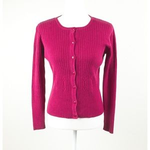 Vintage Red Cotton Fitted Mendocino Cardigan S